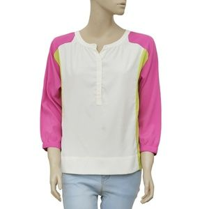 W118 By Walter Baker Buttons Round Neck Top S